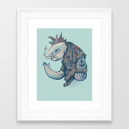 Punk Fish Framed Art Print
