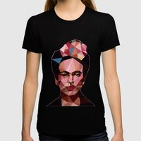 Frida Womens Fitted Tee Black SMALL