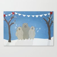 Winter Bears Canvas Print