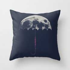 Space Umbrella Throw Pillow