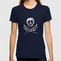 Peace Is Death Womens Fitted Tee Navy SMALL