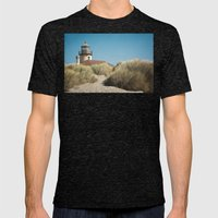 Bandon Lighthouse Mens Fitted Tee Tri-Black SMALL