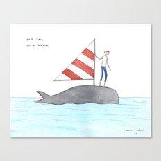set sail on a whale Canvas Print