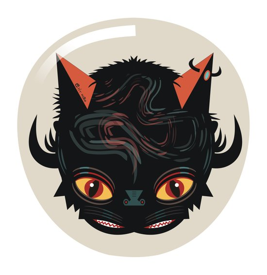 Devil cat Canvas Print