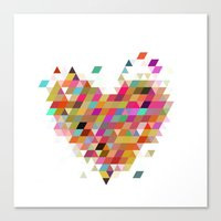 Heart1 White Canvas Print