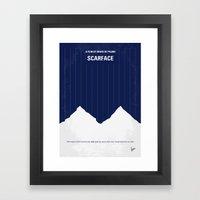 No158 My SCARFACE Minima… Framed Art Print