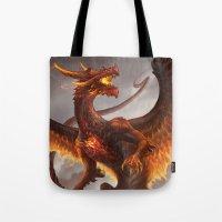 Red Crystal Dragon Tote Bag