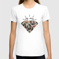 Stay Sharp! Womens Fitted Tee White SMALL