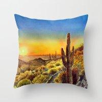 Arizona's Sunset Throw Pillow
