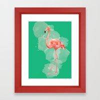 FLAMINGO: THE PINK BEAUTY Framed Art Print