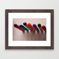 Color Line Framed Art Print