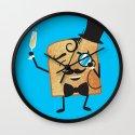 Sir Toast Makes a Toast Wall Clock