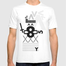 FUTURA White Mens Fitted Tee SMALL