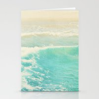 Beach Ocean Wave. Surge.… Stationery Cards