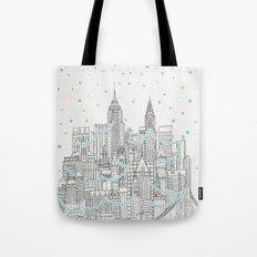 Winter In New York Tote Bag