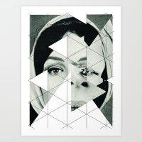 Frau Mit Dreieck 3 Art Print