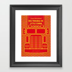 No515 My Big Trouble Little China minimal movie poster Framed Art Print