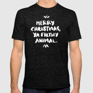 Merry Christmas, Ya Filt… Mens Fitted Tee Tri-Black SMALL