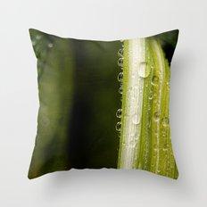 Garden Raindrops Throw Pillow