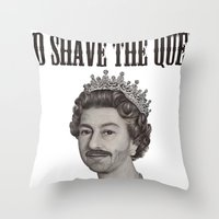 God shave the Queen Throw Pillow