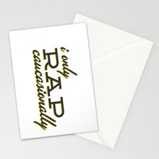I Only Rap Caucasionally Stationery Cards