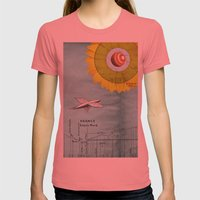 Spacecraft Womens Fitted Tee Pomegranate SMALL