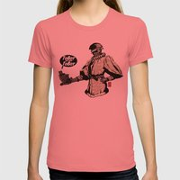 To Bot Or Not To Bot Womens Fitted Tee Pomegranate SMALL