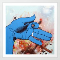 Artist's Hand Portrays Lyin' Ass Dog Whose Sweet Wife Thinks He Is Working Late At The Office Art Print