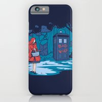 iPhone Cases featuring Big Bad Wolf by Karen Hallion Illustrations