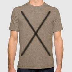 X marks the spot Mens Fitted Tee Tri-Coffee SMALL