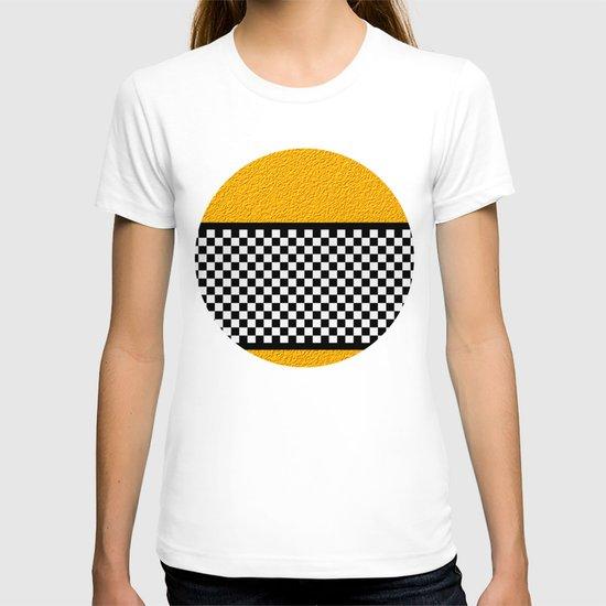 Checkered/Textured Gold T-shirt