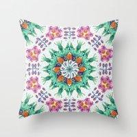 FLIGHT Cloudberry Mandala Throw Pillow