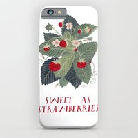 Sweet As Strawberries iPhone 6 Slim Case