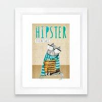 Hipster Cat Framed Art Print