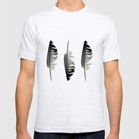 Feathers in the Light Mens Fitted Tee Ash Grey SMALL