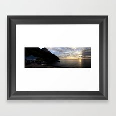 St Lucian sunset Framed Art Print