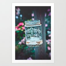 SPRING IN A JAR Art Print