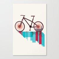 Discover Hong Kong Bicycle Canvas Print