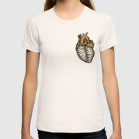 Heart gone wild - color  Womens Fitted Tee Natural SMALL