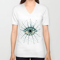 Dots And Abstract Eye Unisex V-Neck