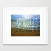 Happiness...found it Framed Art Print