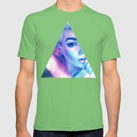 Technicolor Triangle Sh*t Mens Fitted Tee Grass SMALL