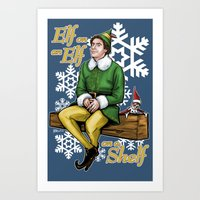Elf On And Elf On A Shel… Art Print