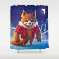Little Werewolf Shower Curtain