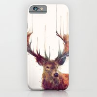 illustration iPhone & iPod Cases featuring Red Deer // Stag by Amy Hamilton