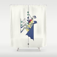 The POW! of love Shower Curtain