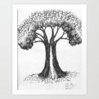 the people tree Art Print