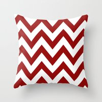 SOONER CHEVRON Throw Pillow