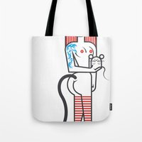 Cat Girl And Fat Mouse Tote Bag