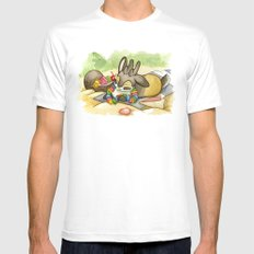 August Jackalope SMALL Mens Fitted Tee White